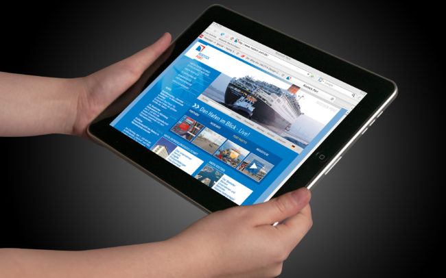 rostock port webseite