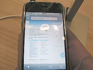 JAKOTA Site auf dem iPhone