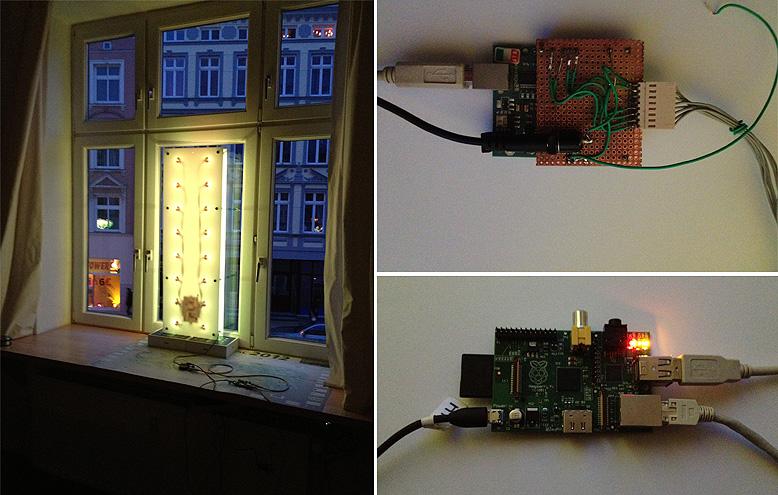 Interaktive post weihnachtsbeleuchtung in jakotas fenster for Fenster weihnachtsbeleuchtung