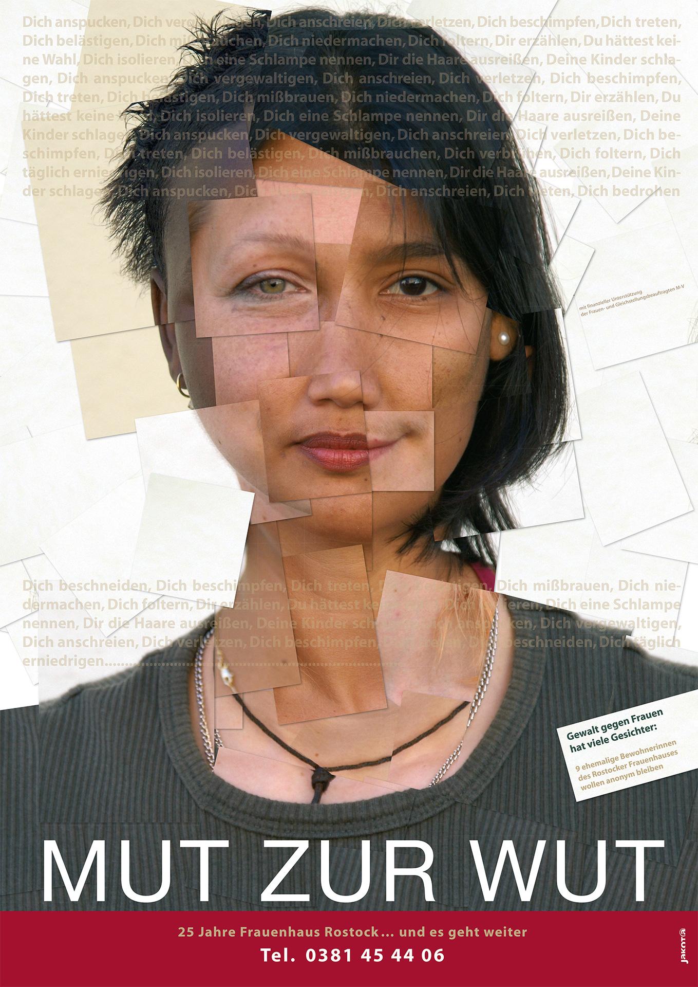 Plakatmotiv Scherbenfrau