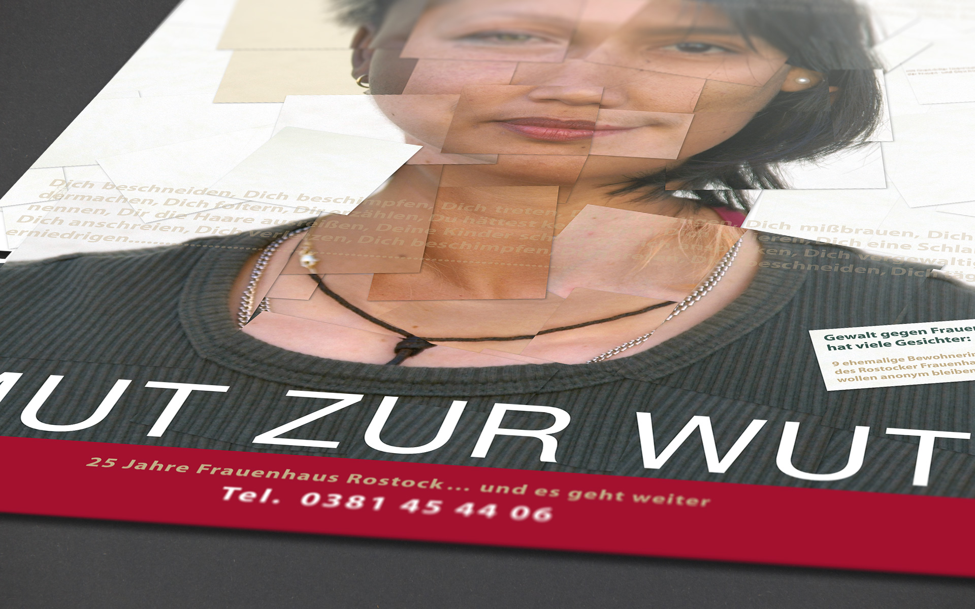Plakatmoiv 25 Jahre Frauenhaus Rostock