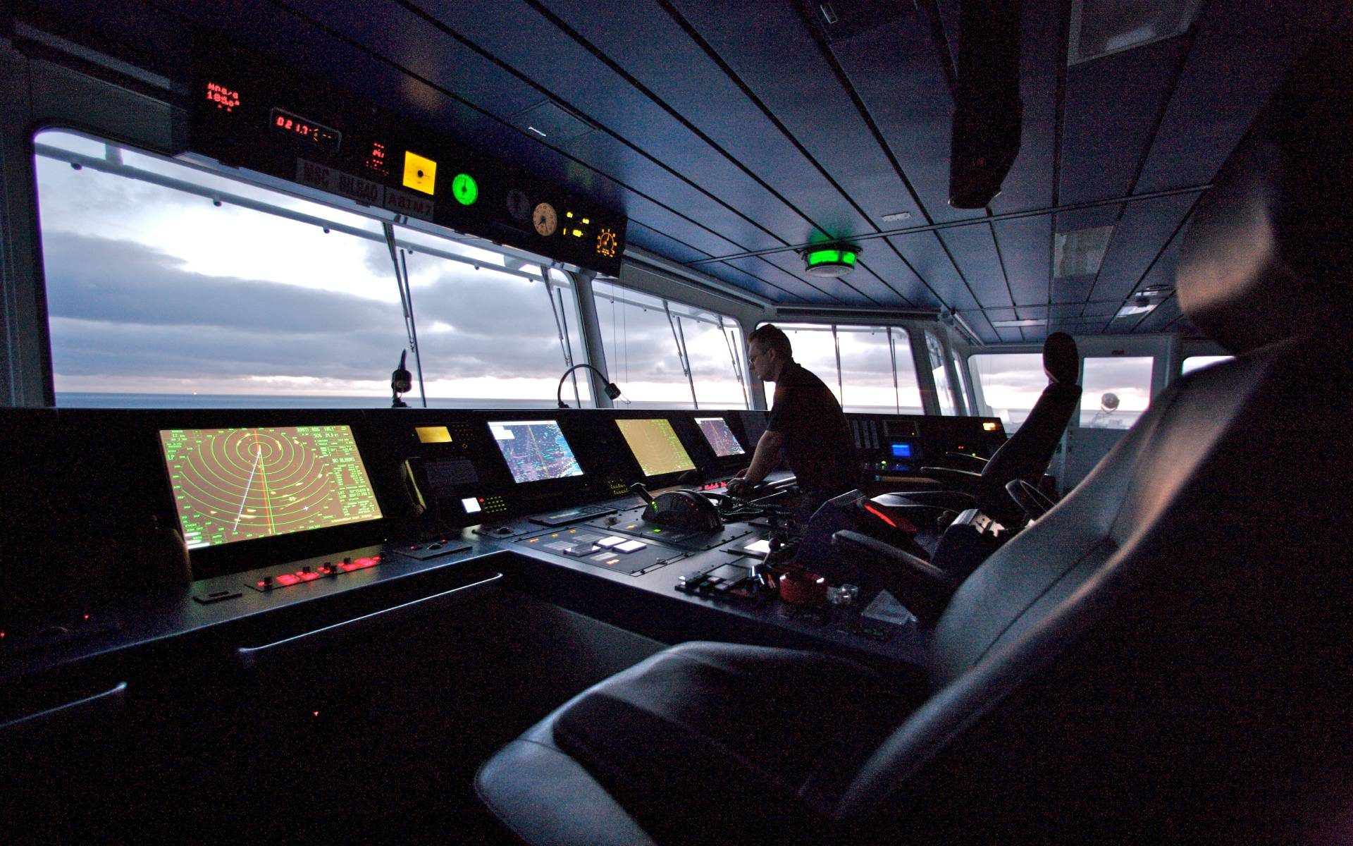 Das Cockpit eines Ozeanriesen