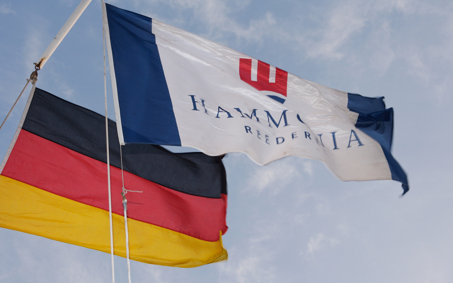 HAMMONIA und Deutschland Flaggen