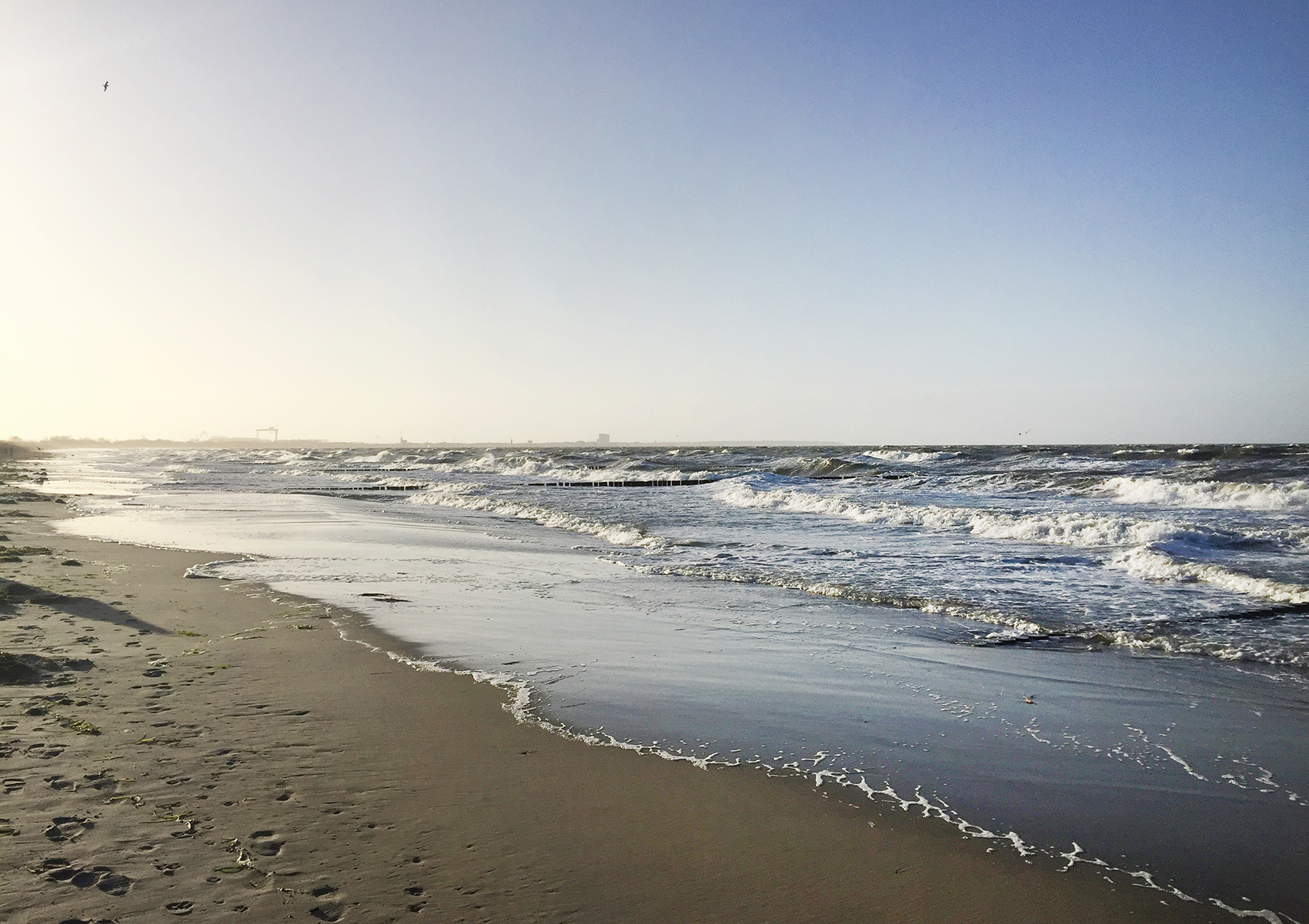 Stürmischer Strandtag