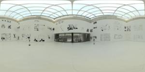 Illustration in der Kunsthalle Rostock mit Andree Volkmann