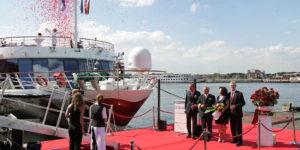 A-ROSA tauft 10. Kreuzfahrtschiff feierlich in Amsterdam
